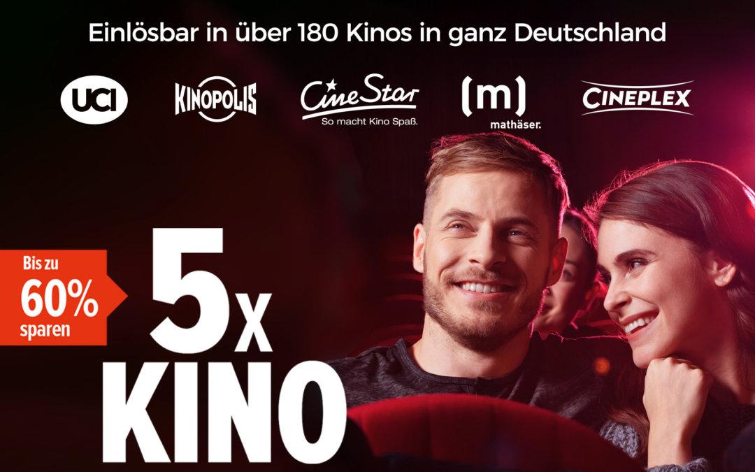 Deutschlandweite Handelspromotion für Kinotickets
