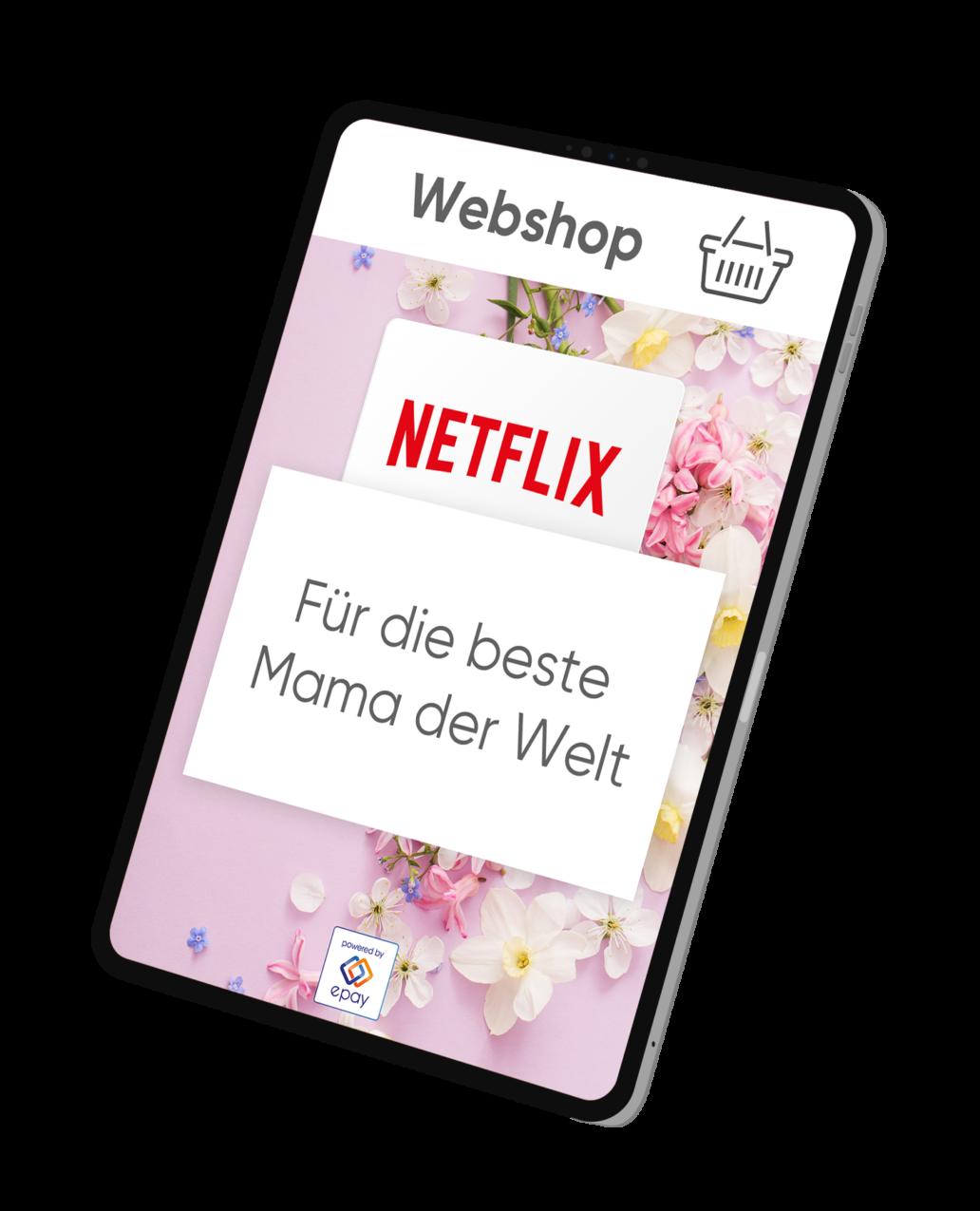 Tablet Netflix digitaler Gutschein