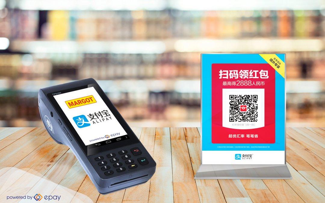 Alipay erstmalig im Schweizer Kiosk-Markt bei Margot verfügbar