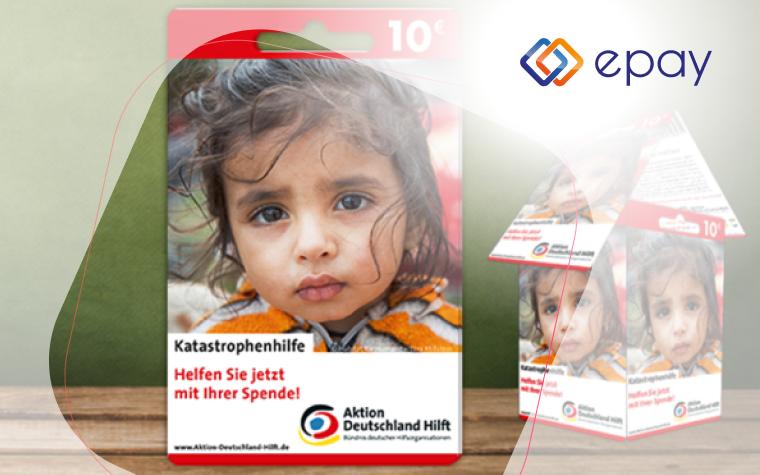 epay Spendenkarte Aktion Deutschland-hilft