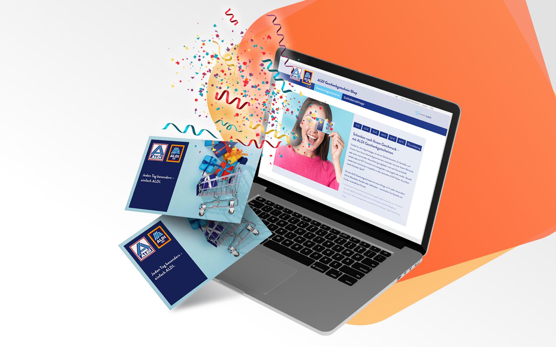 ALDI Webshop für Geschenkgutscheine