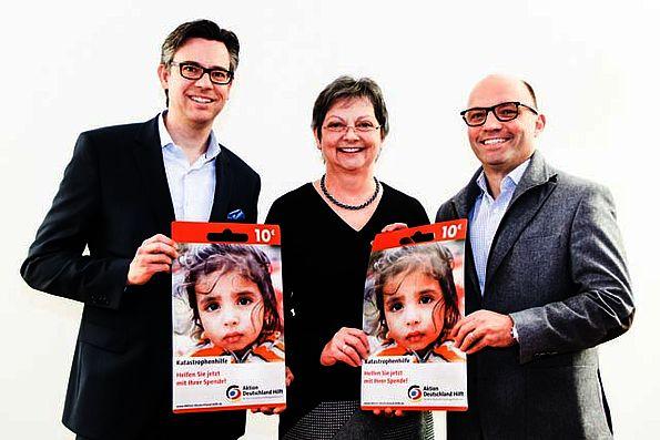 Spendenkarte von Aktion Deutschland hilft
